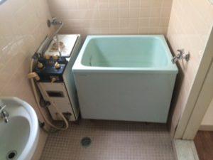 松戸市で風呂釜、浴槽の搬出処分