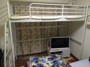 ロフトベッド テレビ テレビ台 こたつ カーテン